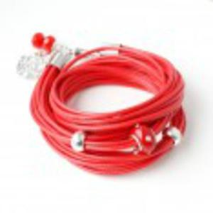 Czerwona z sercem bransoletka - 2825528607