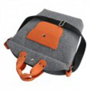 Biggest bag z zamkiem szaro pomarańczowa - 2825528494