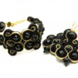 Komplet biżuterii sutasz z onyksami - 2844339738