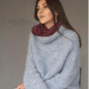 Sweter z pół-golfem - 2844545032
