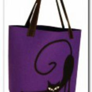 Bardzo duża fioletowa- neonowa, XXL minimalistyczna torebka z aplikacją 3D - 2848098043