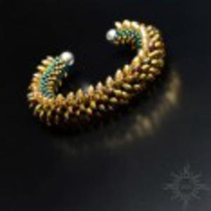Balroth, smocza bransoleta cuff, beading - 2858120390