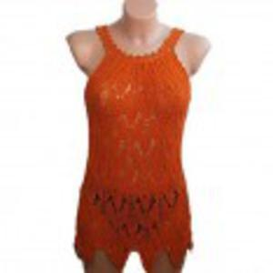 Shinead pomarańczowa ażurowa tunika - 2825542846