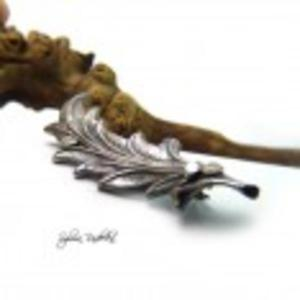 Silver Leaf, broszka ze srebra - 2825539593
