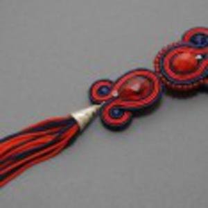 Granatowo-czerwony wisiorek sutasz - 2825537338