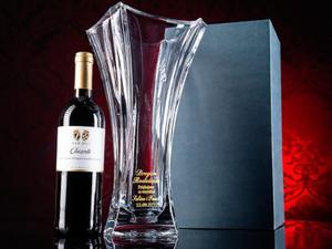 Kryształowy wazon Bohemia Colosseum na podziękowania dla rodziców prezent rocznicę ślubu - 2832956147