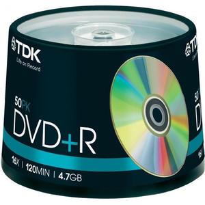 Płyta DVD TDK DVD+R 4.7 GB 16x 120 min. 50 szt - 2869315390