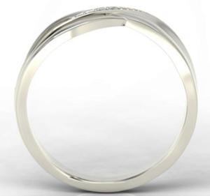 Pierścionek z białego złota z diamentami LP-6708B - 2824314716