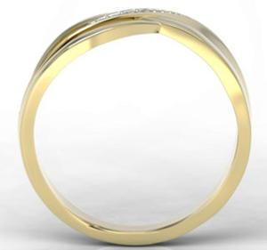 Pierścionek z żółtego złota z diamentami LP-6708Z-R - 2824314717