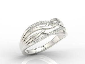 Pierścionek z białego złota z diamentami LP-72B - 2824314740