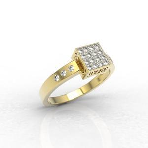 Zestaw z żółtego złota z diamentami LP-89Z-R-ZEST - 2824314873