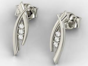 Kolczyki z białego złota z diamentami APK-83B - 2824315131