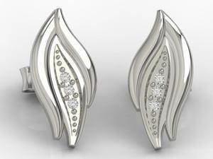 Kolczyki z białego złota z diamentami APK-86B - 2824315152
