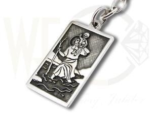 Brelok srebrny z wizerunkiem Św. Krzysztofa WEC-S-SW.KRZY-1 - 2824315240