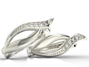 Kolczyki z białego złota z diamentami BPK-17B - 2824315424