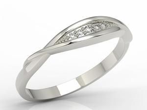 Pierścionek z białego złota z diamentami AP-76B - 2824315462