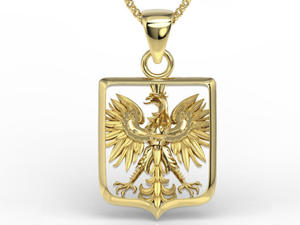 Wisiorek z żółtego złota z orłem BPW-36Z - 2824315472