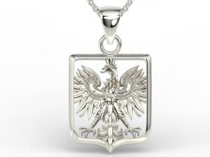 Wisiorek z białego złota z orłem BPW-36B - 2824315473