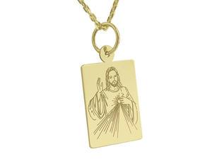 Medalik z żółtego złota WEC-Z-MED-JEZUS.M-2 - 2824315885
