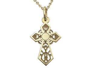 Krzyżyk z żółtego złota WEC-Z-MED-KRZYŻYK-2 - 2824315891