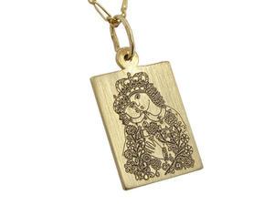 Medalik z żółtego złota WEC-Z-MED-KALW-1 - 2824315897
