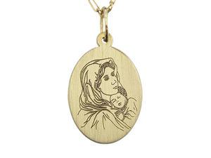 Medalik z żółtego złota WEC-Z-MED-MB-2 - 2824315898