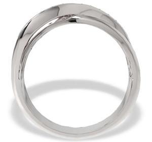Pierścionek z białego złota z diamentami LP-30B - 2824314444