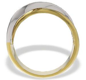 Pierścionek z żółtego i białego złota z diamentami LP-30ZB - 2824314445