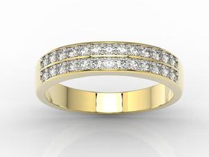 Pierścionek z żółtego złota z cyrkoniami BP-48Z-R-C - 2824316298
