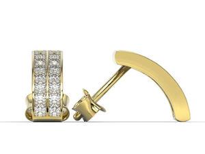 Kolczyki z żółtego złota z cyrkoniami BPK-48Z-R-C - 2824316299