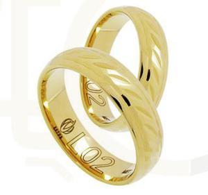 Obrączka z żółtego złota ŁL-02Z-light-m - 2835614101