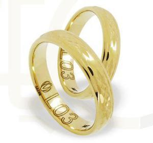 Obrączka z żółtego złota ŁL-03Z-light-m - 2835614103