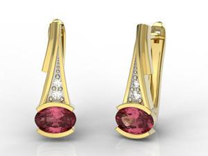 Kolczyki ze złota z rubinami i diamentami JPK-27Z-R