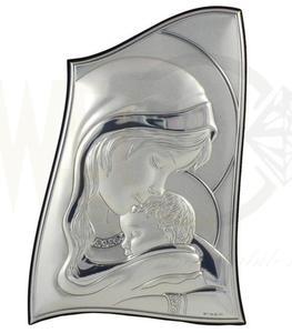 Ryngraf z powłoką srebra Matka Boska z Dzieciątkiem SV18013/2L - ok. 9,5 cm \ ok. 6,5 cm - 2842307794
