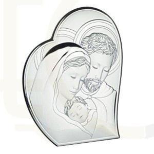 Ryngraf z powłoką srebra Święta Rodzina VL81050/1L - ok. 10,7 cm \ ok. 8,8 cm - 2842307804