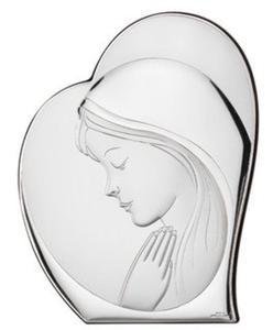 Ryngraf z powłoką srebra Matka Boska z Dzieciątkiem SVL81051/1L - ok. 10,7 cm \ ok. 8,8 cm - 2842307810