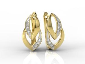 Kolczyki z żółtego złota z diamentami BP-60Z-R - 2843225939