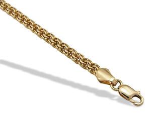 Bransoleta robiona ręcznie z żółtego złota IRBr-3Z - 2848466336