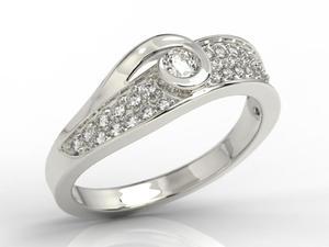 Pierścionek z brylantami JP-53B - Białe \ Diament - 2847254788