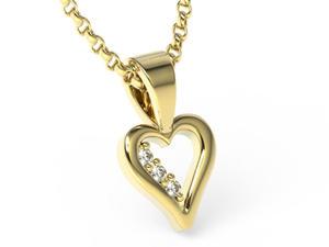 Wisioreki z żółtego złota z brylantami LPW-41Z - 2857029809