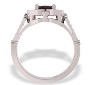 Pierścionek z białego złota z rubinem i diamentami JP-99B - 2824314502