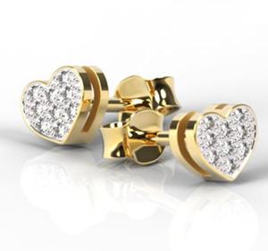 Kolczyki z żółtego złota z brylantami LPK-40Z-R - 2824314591