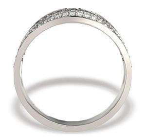 Pierścionek z białego złota z diamentami LP-49B - 2824314626