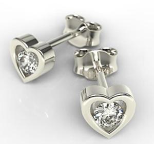 Kolczyki z białego złota z diamentami LPK-52B - 2824314639