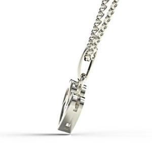 Wisiorek z białego złota z diamentem LPW-52B - 2824314649