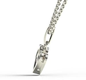 Wisiorek z białego złota z szafirem LPW-52B - 2824314653