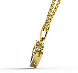 Wisiorek z żółtego złota z szafirem LPW-52Z - 2824314657