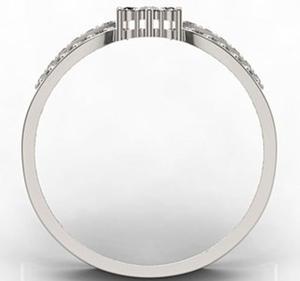 Pierścionek z białego złota LP-5828B - 2824314694