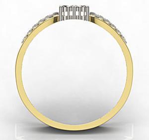 Pierścionek z żółtego i białego złota LP-5828ZB-R - 2824314695