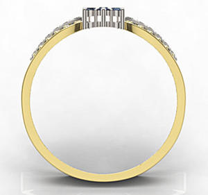Pierścionek z żółtego i białego złota LP-5828ZB-R-SZA/D - 2824314696